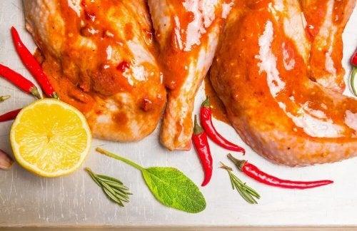 tavuk kırmızı biber