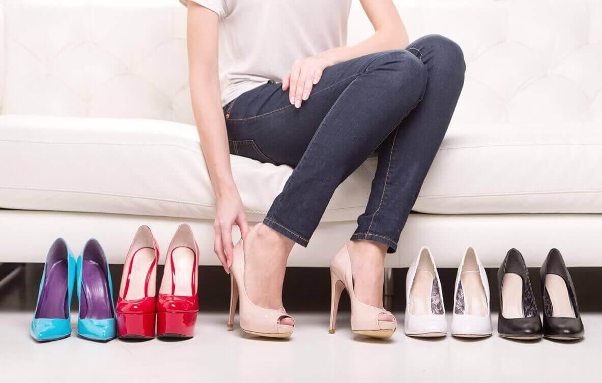 topuklu ayakkabı deneme