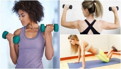 sıkı kollar için egzersiz