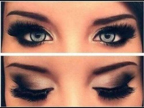 makyajlı gözler