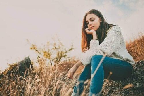 genç bir kadın