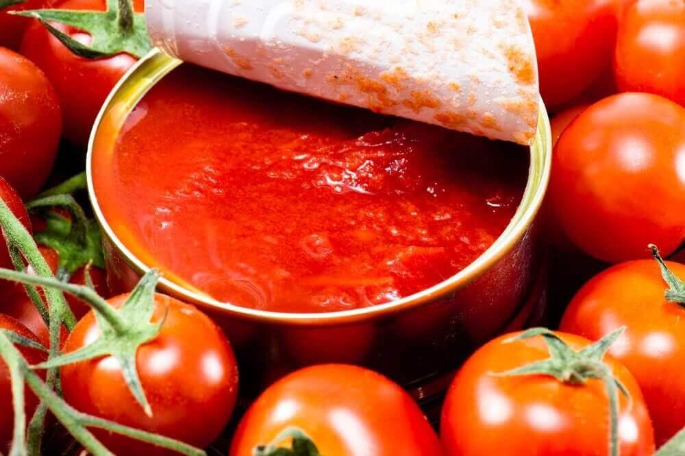 domates salçası yapılmış