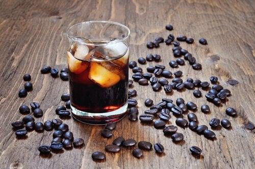 kafeinli içecek kahve buz