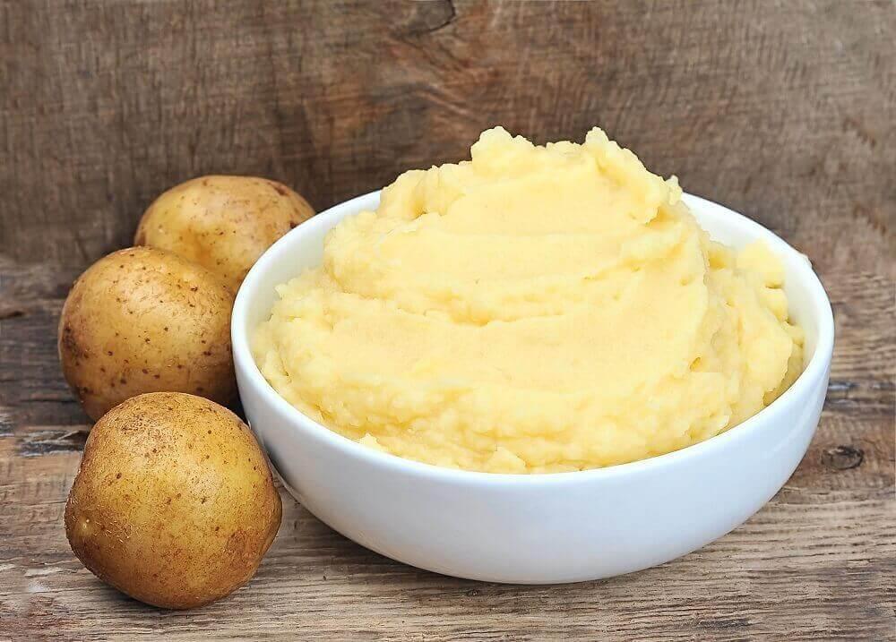 bir kase patates püresi
