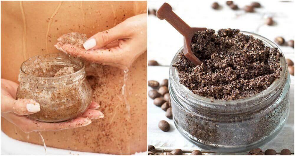 Çatlak İzleri için Kahve ve Hindistan Cevizi Yağı Kremi