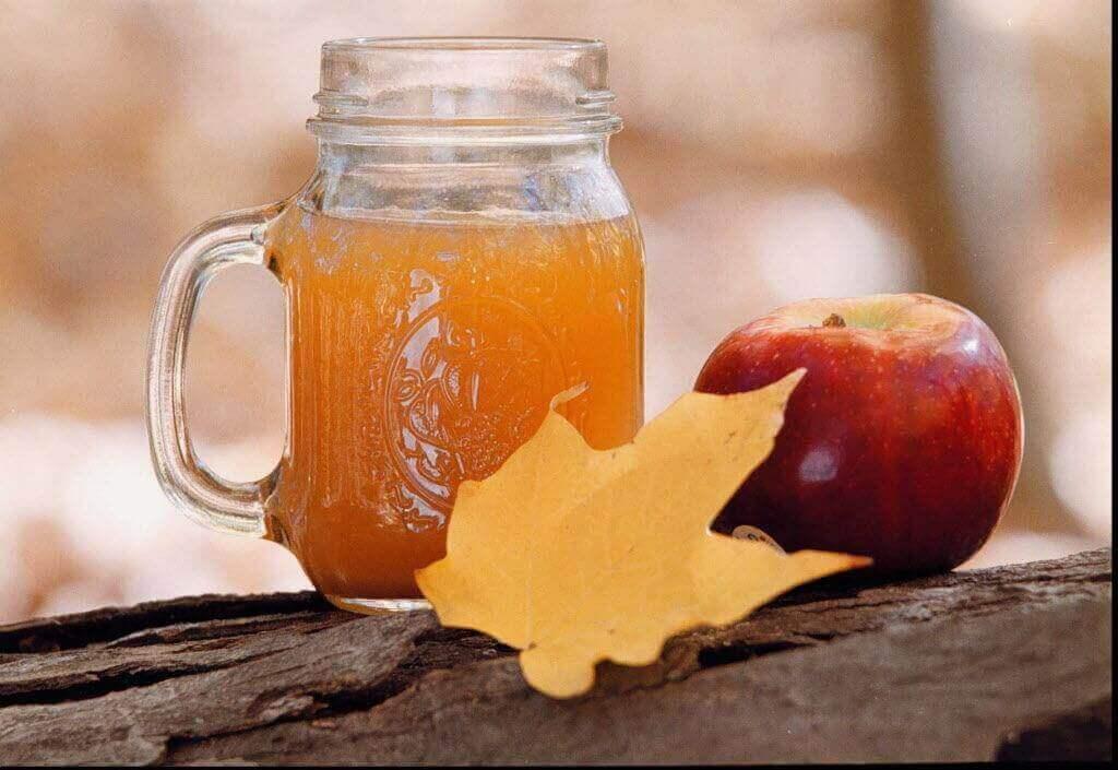 elma sirkesi ve tuz