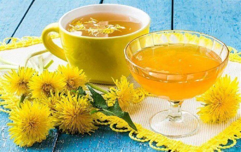 kara hinbida çayı ve içeceği