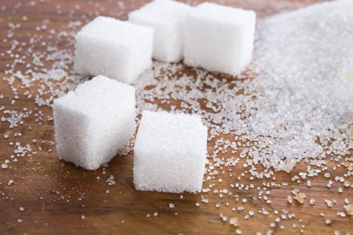 beş adet küp şeker