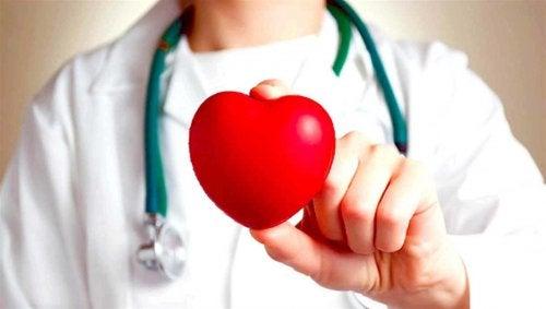 elinde kalp tutan doktor