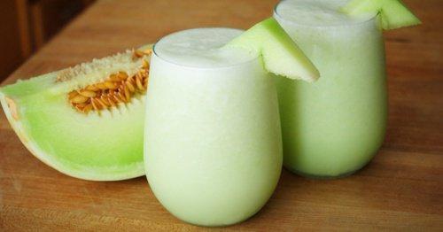 yeşil çaylı kavunlu içecek