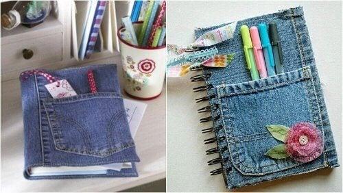eski kot pantolonlarınızı geri dönüştürerek not defteri yapmak