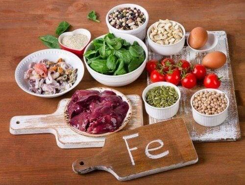demir oranı yüksek gıdalar