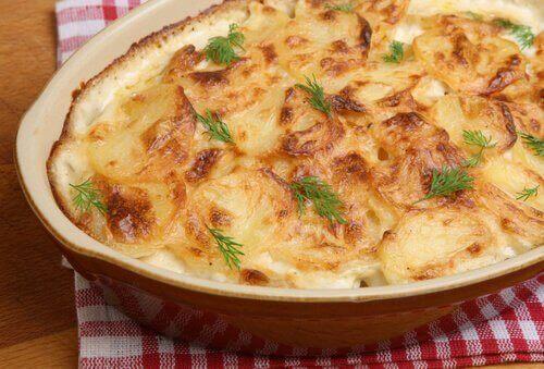 peynir ve patates graten