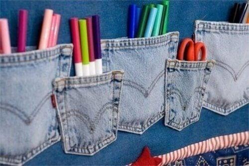 eski kot pantolonlarınızı geri dönüştürerek kalemlik yapmak