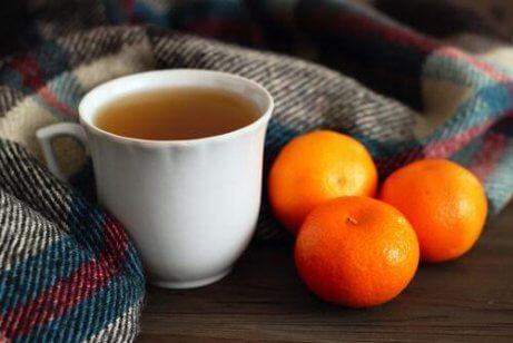 bir mandalina çayı