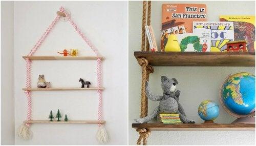 çocuk odası raflar oyuncaklar