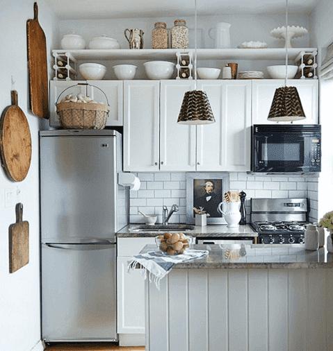 mutfak beyaz dekor