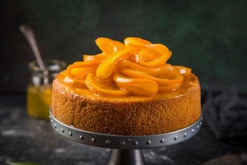 portakallı kek sunum