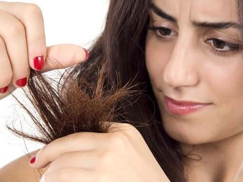 kuru saçlar kadın