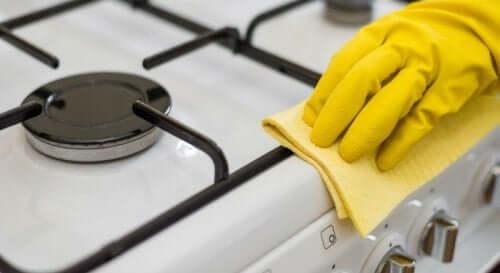 ocak bez sarı eldiven