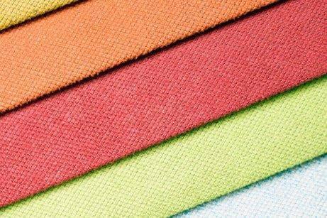 turuncu, kırmızı, yeşil kumaş
