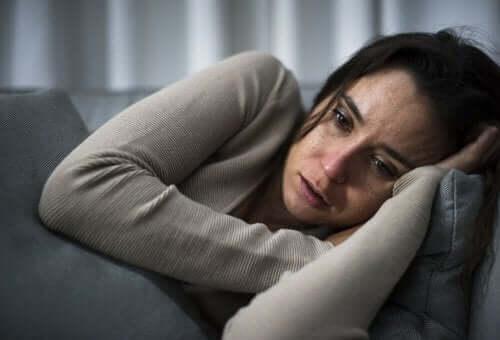 depresyonda kadın