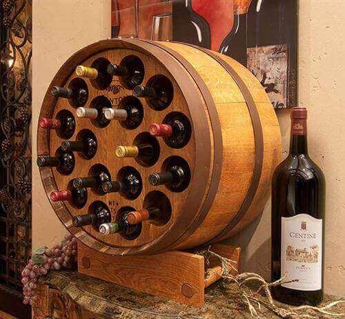 fıçı şeklinde şaraplık