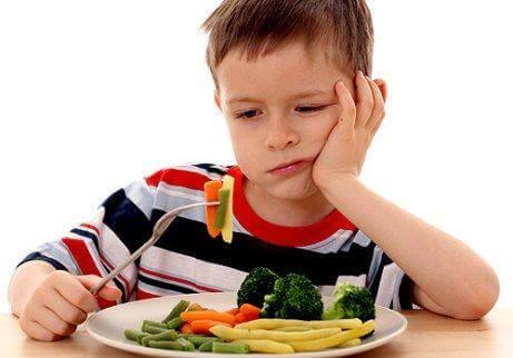 sebze sevmeyen çocuk