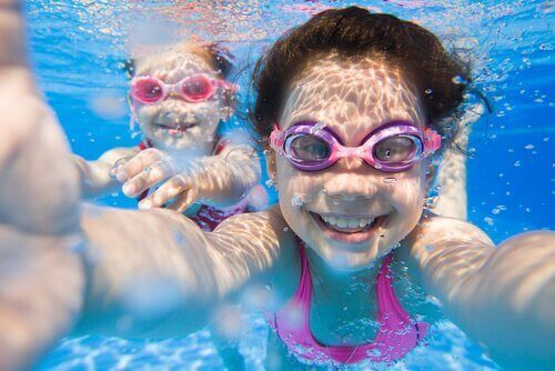 çocuklarınız ile yüzmek