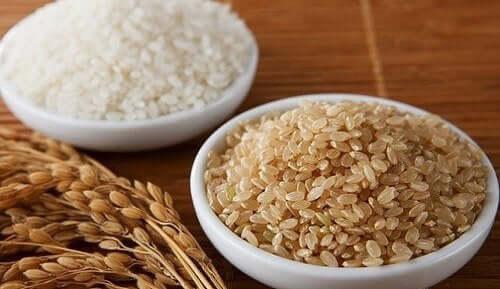 beyaz pirinç esmer pirinç