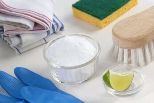 sünger karbonat limon buzdolabını temizlemek