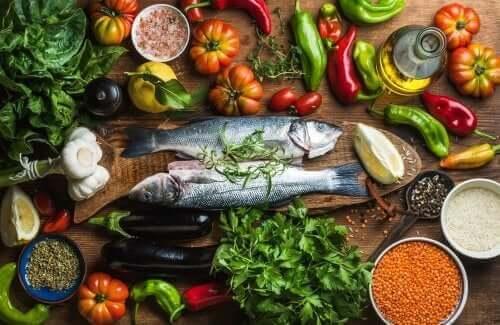 atlantik diyeti balık sebzeler