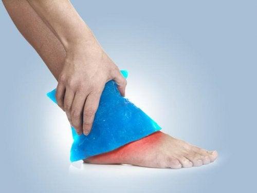 buz uygulama ayak alışkanlık
