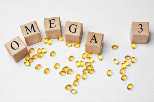 omega-3 yağ asitleri ahşap harfler