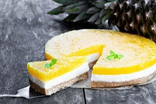 Soğuk Pina Colada Cheesecake