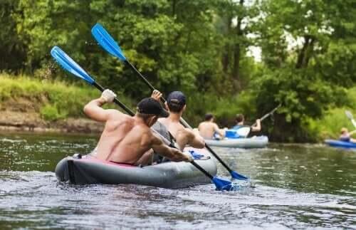 kürek çekme nehir farklı egzersiz