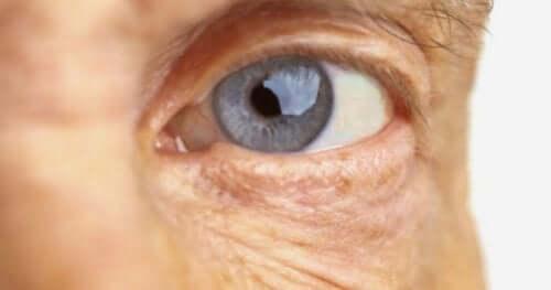 mavi göz yakın çekim
