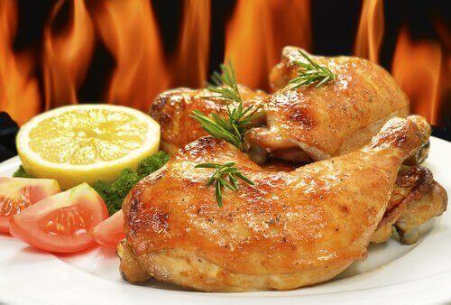 kızarmış tavuk yemeği