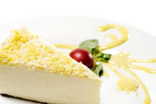 Zencefilli limon kabuklu cheesecake
