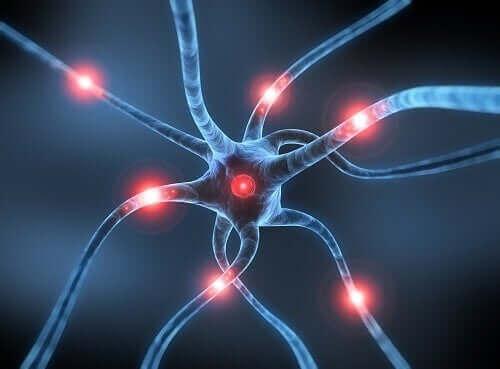 Parkinson hastalığını temsil eden bir sinir hücresi illüstrasyonu.