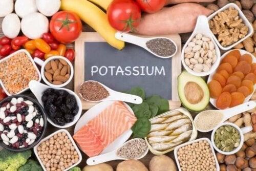 Potasyum bakımından zengin olan gıdalar.