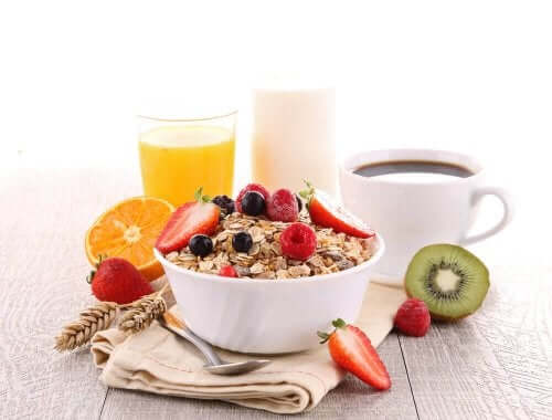 An example of a healthy breakfast.