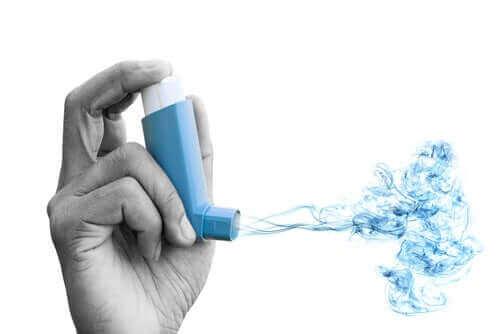soluk aldırma cihazı mavi gaz astım