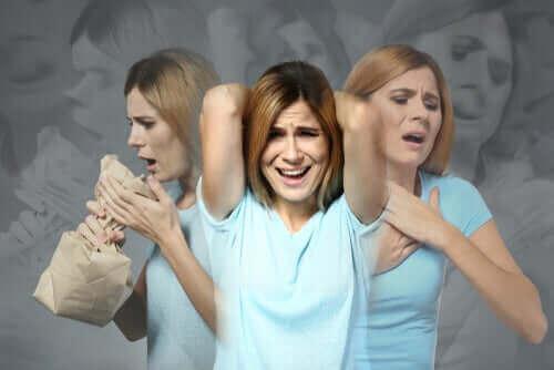 kaygı yaşayan kadın