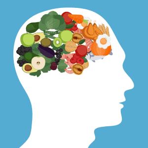beynin olduğu yerde sağlıklı besinler görseli