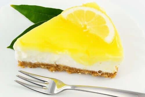 Limonlu cheesecake.