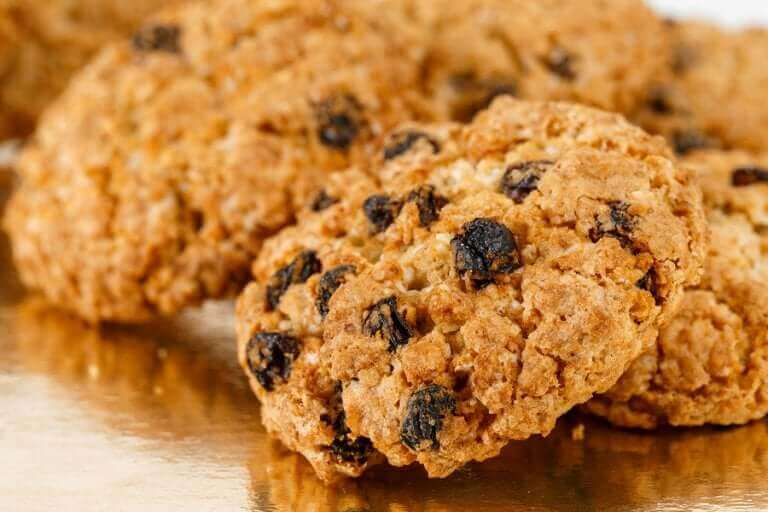Bazı sağlıklı kurabiyeler.