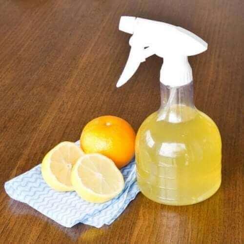 limonlu çevre dostu temizleyici