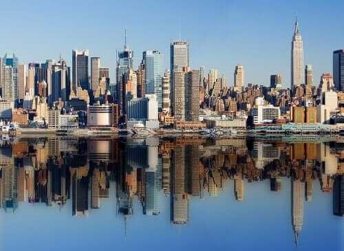 New York şehrinin bir fotoğrafı.
