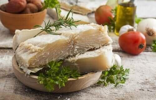 Fileto morina balığı parçaları.